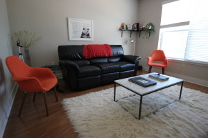 The Levys' living room