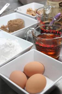 Ingredients for honey cake.