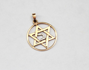 A Star of David pendant passed down to Synenberg that was originally a gift made by her grandfather, Saul Gottlieb, for her grandmother, Bernice.