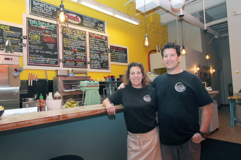 Customers can choose from a sizeable menu at Jamie and Scott Hersch's restaurant, Munch, at 28500 Miles Road in Solon.