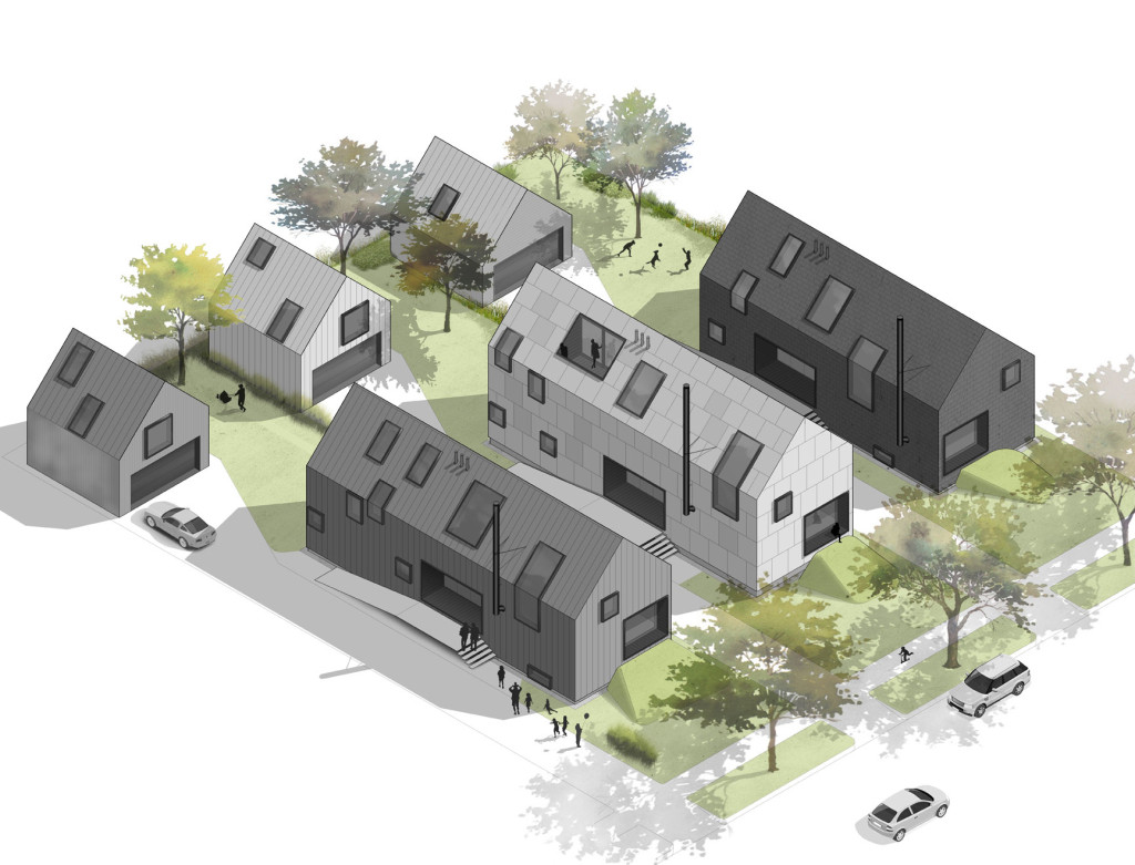 What Shaker Heights' southern Moreland neighborhood might look like should winning designs in the Shaker Design Competition, like this one from Donnelly Eber, come to fruition.