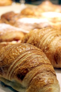 Among the baked goods available at The Stone Oven are croissants, which along with other baked goods, are made on site.