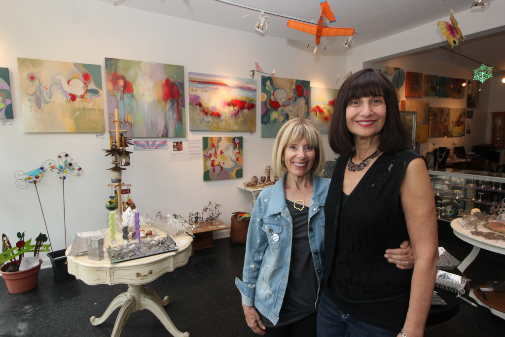 From left, Pennello Gallery co-owners Sue Cahn and Jacquie Meyerson inside their Little Italy gallery.
