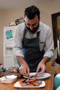 Umansky makes beef navel the foundation of his dish.
