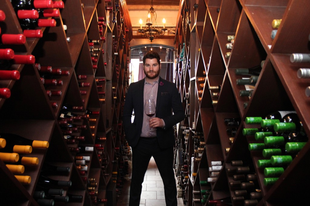 Alexander Carlin, wine director at EDWINS Leadership & Restaurant Institute, has many options from which to choose at the Cleveland restaurant.