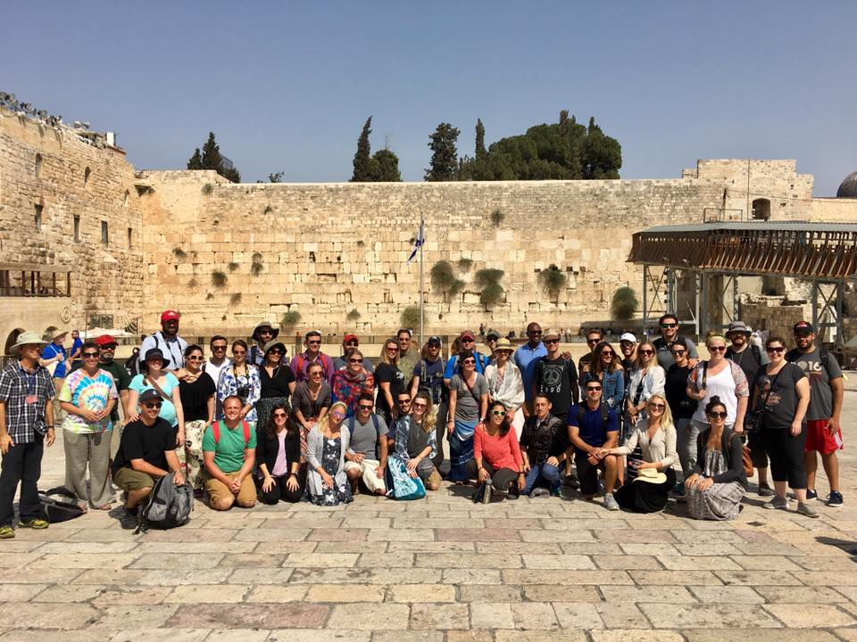 The Cleveland Honeymoon Israel group visits the Western Wall in Jerusalem in September 2017.
