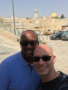 Dr. Dante Roulette, left, and Ian Lucash in Jerusalem.