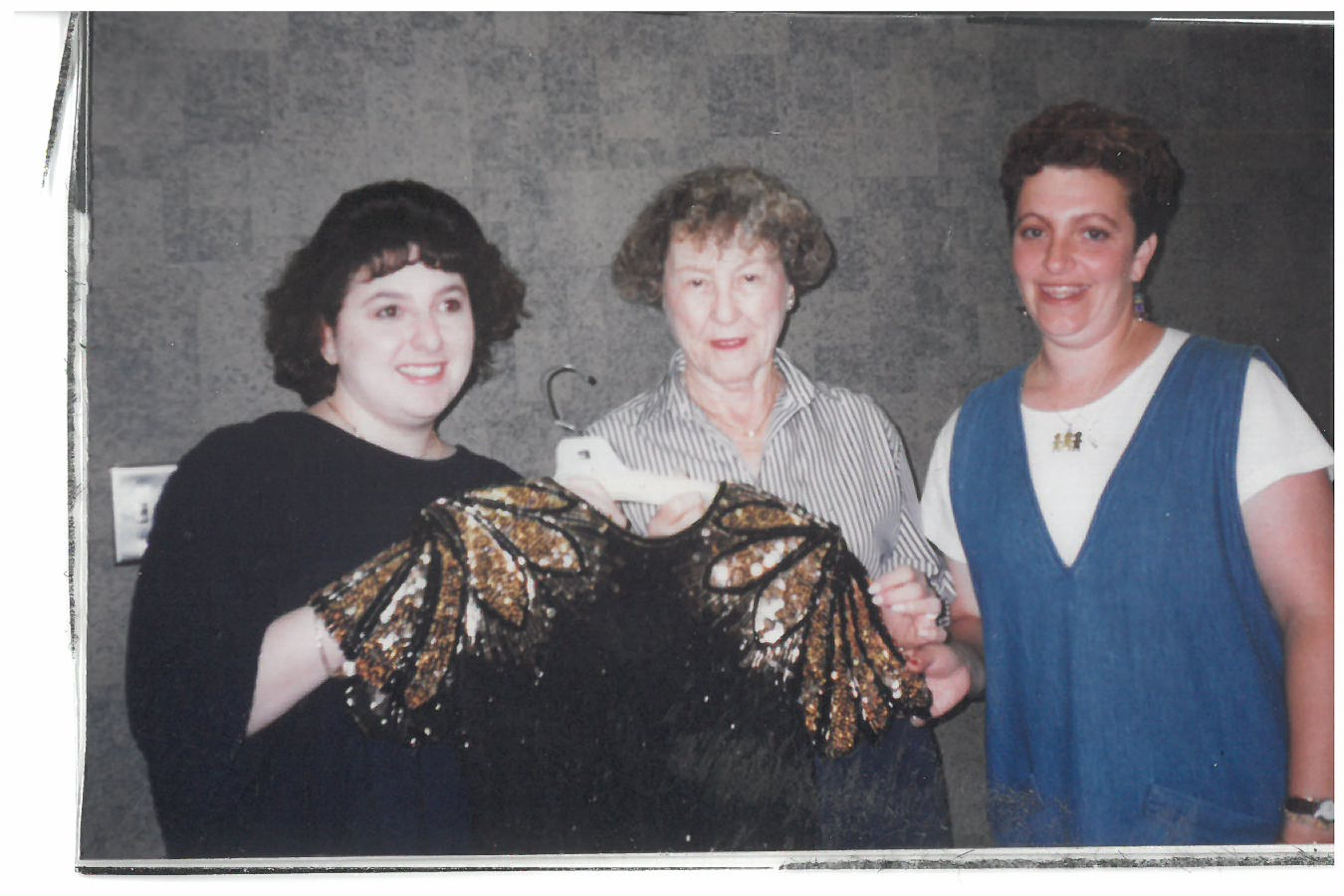Designer Dress Days founder Liz Faulb, center, is joined by, from left, then-co-chairs Natalie Horowitz and Marilyn Zaas in a mid-1990s photo. Photo credit NCJW/Cleveland
