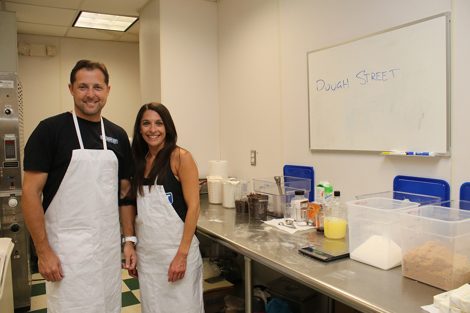 Dough Street co-owners Andy Simms and Katie Pollock make their cookie dough at the Cleveland Culinary Launch and Kitchen in Cleveland.