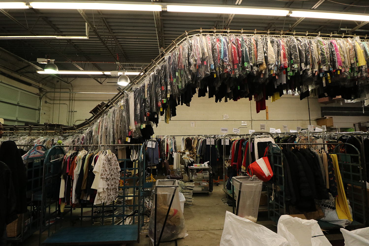In mid-September, the NCJW/Cleveland warehouse was filled with items that will be available for purchase during Designer Dress Days in October. Photo by Michael C. Butz